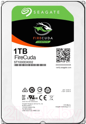 Гибридный жесткий диск Seagate Firecuda 1TB (ST1000DX002)