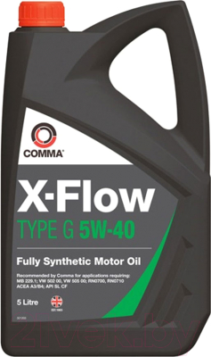 Моторное масло Comma X-Flow Type G 5W40 / RN0710 XF (5л)