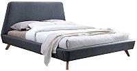 Двуспальная кровать Signal Gant 160x200 (серый) -