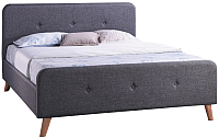 Полуторная кровать Signal Malmo 140x200 (серый) -