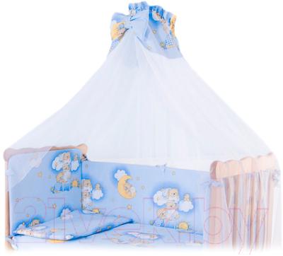 Балдахин на кроватку Баю-Бай Нежность / Б10-Н4 (голубой)
