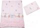 Комплект постельный детский Баю-Бай Забава / К20-З1 (розовый) -