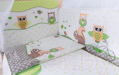 Комплект постельный в кроватку Баю-Бай Раздолье К31-Р3 (зеленый)