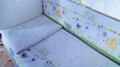 Комплект постельный в кроватку Баю-Бай Дружба К30-Д3 (зеленый)