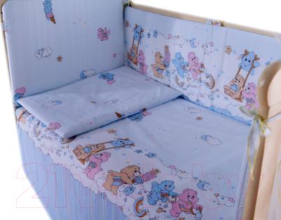 Комплект постельный в кроватку Баю-Бай Забава К40-З4 (голубой)