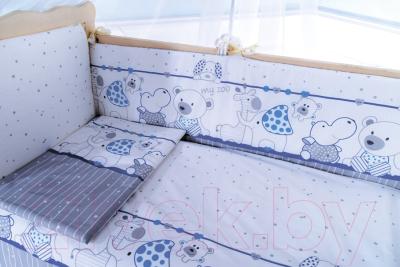 Комплект постельный в кроватку Баю-Бай Дружба К40-Д4 (синий)