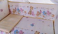 Комплект постельный в кроватку Баю-Бай Забава / К50-З2 (бежевый) -
