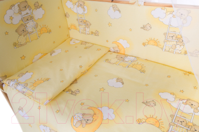 Комплект постельный в кроватку Баю-Бай Нежность / К50-Н2 (бежевый)