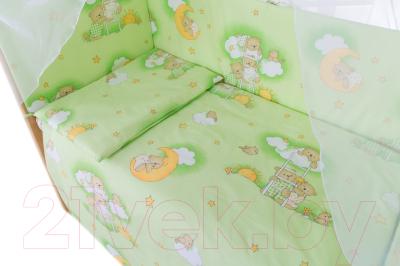 Комплект постельный в кроватку Баю-Бай Нежность / К50-Н3 (зеленый)