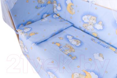Комплект постельный в кроватку Баю-Бай Нежность / К30-Н4 (голубой)