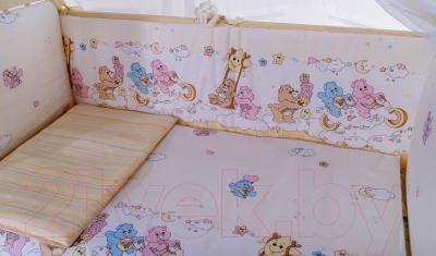 Комплект постельный в кроватку Баю-Бай Забава К60-З2 (бежевый)