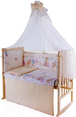 Комплект постельный в кроватку Баю-Бай Забава К80-З2 (бежевый)