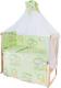 Комплект постельный в кроватку Баю-Бай Нежность / К80-Н3 (зеленый) -