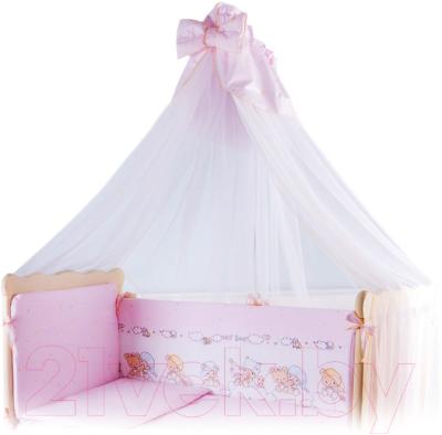 Комплект постельный в кроватку Баю-Бай Мечта К90-М1 (розовый)