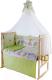 Комплект постельный в кроватку Баю-Бай Забава К90-З3 (зеленый) -
