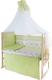 Комплект постельный в кроватку Баю-Бай Мечта К120-М3 (зеленый) -