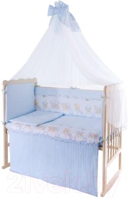 Комплект постельный в кроватку Баю-Бай Мечта К120-М4 (голубой)