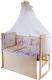 Комплект постельный в кроватку Баю-Бай Забава К120-З2 (бежевый) -