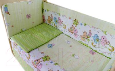 Комплект постельный в кроватку Баю-Бай Забава К120-З3 (зеленый)