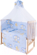 Комплект постельный в кроватку Баю-Бай Нежность К120-Н4 (голубой) -