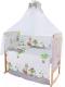 Комплект постельный в кроватку Баю-Бай Раздолье / К120-Р3 (зеленый) -