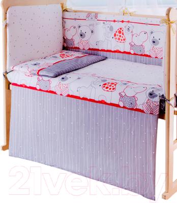 Пододеяльник детский Баю-Бай Дружба ПД10-Д1 (красный)