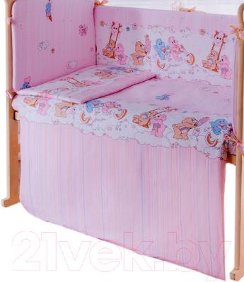 Простыня детская Баю-Бай Забава / ПР10-З1 (розовый)