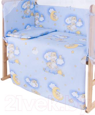 Простыня детская Баю-Бай Нежность / ПР10-Н4 (голубой)