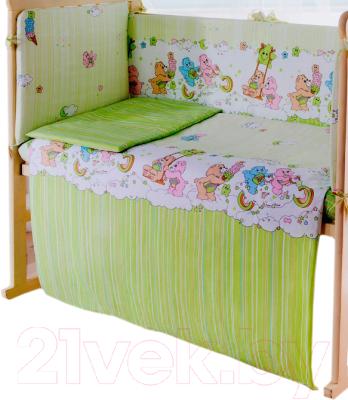 Простыня детская Баю-Бай Забава / ПР11-З3 (зеленый)
