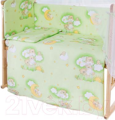Простыня детская Баю-Бай Нежность / ПР11-Н3 (зеленый)