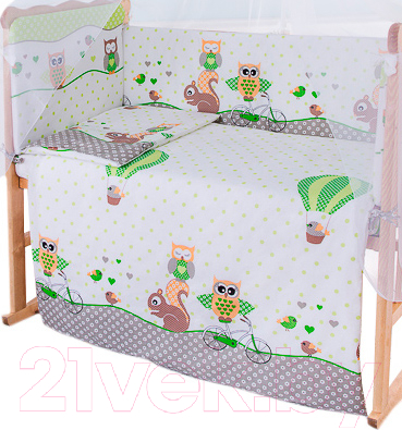 Простыня детская Баю-Бай Раздолье / ПР11-Р3 (зеленый)