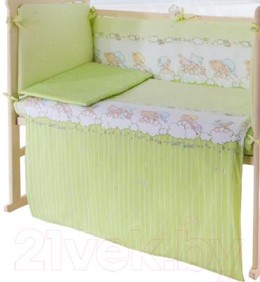 Простыня детская Баю-Бай Мечта / ПР12-М3 (зеленый)