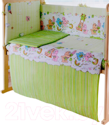 Простыня детская Баю-Бай Забава / ПР12-З3 (зеленый)