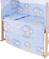 Простыня детская Баю-Бай Нежность / ПР12-Н4 (голубой) -