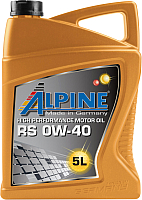 Моторное масло ALPINE RS 0W40 / 0100222 (5л) -