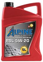 Моторное масло ALPINE RSL 5W20 / 0100152 (5л) -