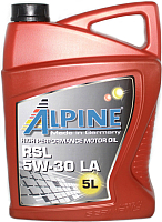Моторное масло ALPINE RSL 5W30 LA / 0100302 (5л) -