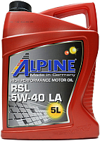 Моторное масло ALPINE RSL 5W40 C3 / 0100172 (5л) -