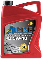 Моторное масло ALPINE PD Pumpe-Duse 5W40 / 0100162 (5л) -