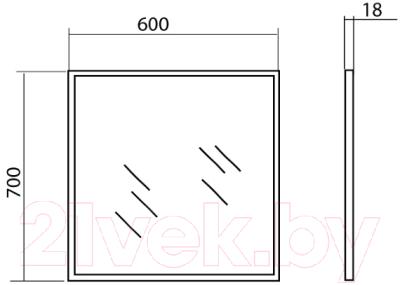 Зеркало Аква Родос Акцент 60 / AP0001546 (без подсветки)