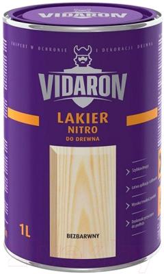 Лак Vidaron Нитро для древесины (1л, бесцветный матовый)