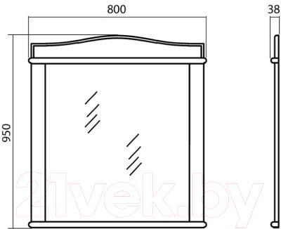 Зеркало Аква Родос Микелла 80 / АР0001256 (ваниль)