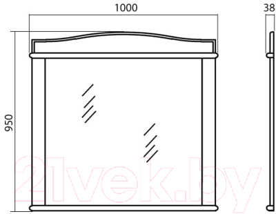 Зеркало Аква Родос Микелла 100 / АР0001254 (ваниль)