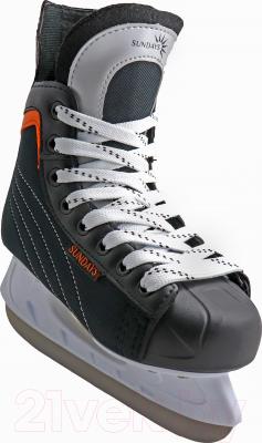 Коньки хоккейные Sundays PW-206G (38, черный/оранжевый)