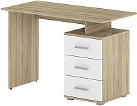 Письменный стол Славянская столица Д-СП1 (дуб сонома/белый) -