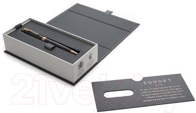 Ручка шариковая имиджевая Parker Sonnet Core Black Lacquer GT 1931497