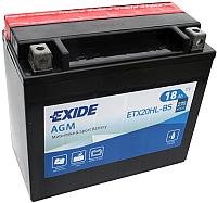 Мотоаккумулятор Exide ETX-20HL-BS (18 А/ч) -