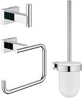 Набор аксессуаров для ванной и туалета GROHE Essentials Cube 40757001 -