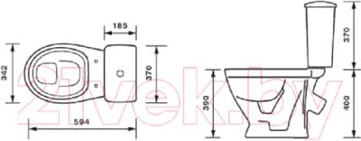 Унитаз напольный Оскольская керамика Радуга тарельчатый