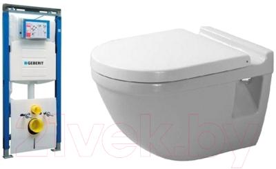 Унитаз подвесной с инсталляцией Duravit Set Starck 3 (42000900A1+111362005)